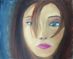 """The Girl"" Oil on canvas board"