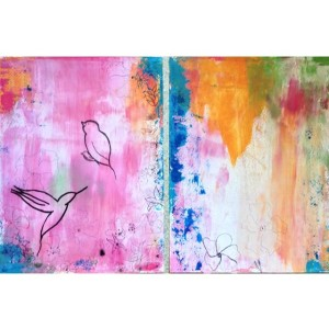 Garden Diptych Acrylic Blend on Paper